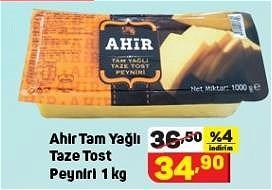Ahir Tam Yağlı Taze Tost Peyniri 1 kg image