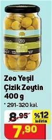 Zeo Yeşil Çizik Zeytin 400 g 291-320 kal. image