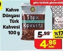 Kahve Dünyası Türk Kahvesi 100 g image