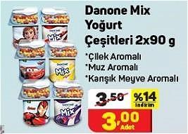 Danone Mix Yoğurt Çeşitleri 2x90 g image
