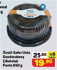 Özsüt Sefer Usta Dondurulmuş Çikolatalı Pasta 650 g image
