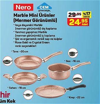 Nero Marble Mini Ürünler (Mermer Görünümlü) image