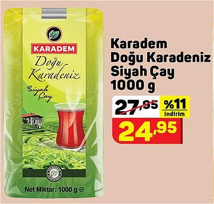 Karadem Doğu Karadeniz Siyah Çay 1000 g image