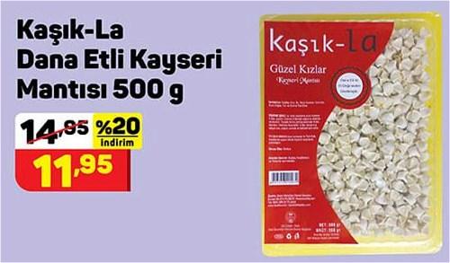 Kaşık-La Dana Etli Kayseri Mantısı 500 g image
