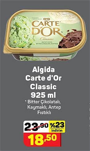 Algida Carte d'Or Classic 925 ml Bitter Çikolatalı Kaymaklı Antep Fıstıklı image