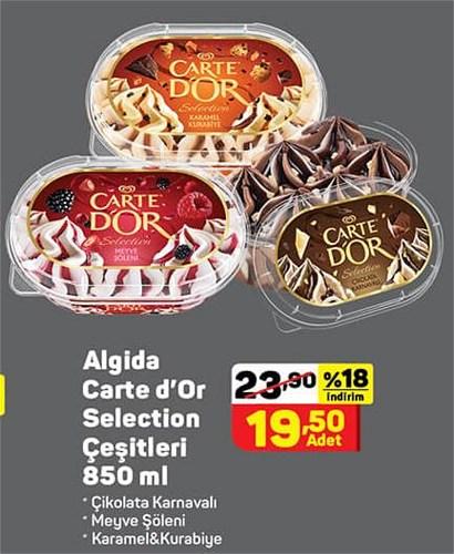 Algida Carte d'Or Selection Çeşitleri 850 ml image