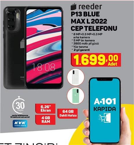 Reeder P13 Blue Max L 2022 Cep Telefonu 64 GB image