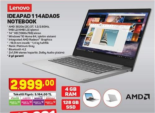 Lenovo IdeaPad 114ADA05 Notebook 4GB Ram 128 GB Ssd image