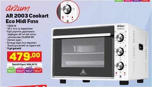 Arzum AR 2003 Cookart Eco Midi Fırın 35  L image