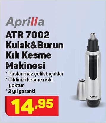 Aprilla ATR 7002 Kulak&Burun Kılı Kesme Makinesi image