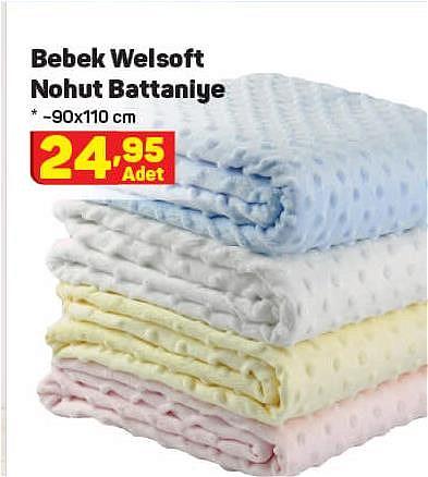Bebek Welsoft Nohut Battaniye 90x110 cm image