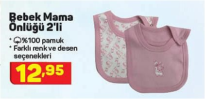 Bebek Mama Önlüğü 2'li image