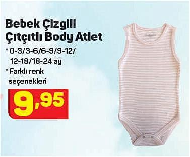 Bebek Çizgili Çıtçıtlı Body Atlet image