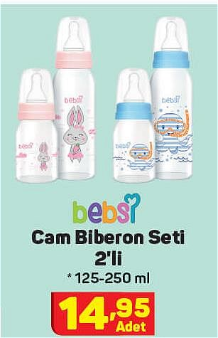 Bebsi Cam Biberon Seti 2'li 125-250 ml image