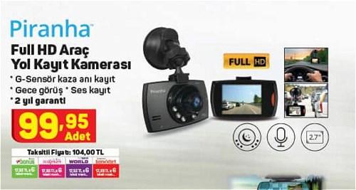 Piranha Full HD Araç Yol Kayıt Kamerası image
