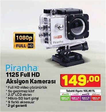 Piranha 1125 Full HD Aksiyon Kamerası image
