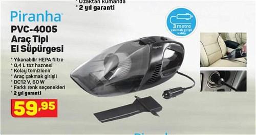 Piranha PVC-4005 Araç Tipi El Süpürgesi image