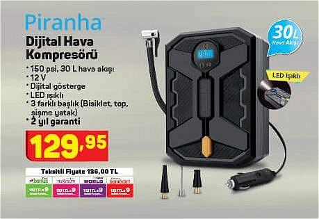 Piranha Dijital Hava Kompresörü image