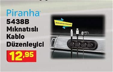 Piranha 5438B Mıknatıslı Kablo Düzenleyici image