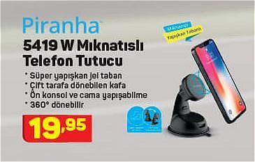 Piranha 5419 W Mıknatıslı Telefon Tutucu image