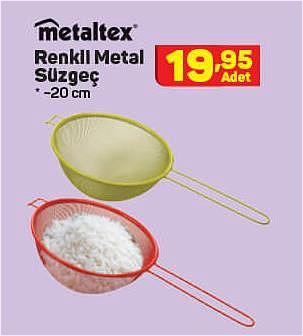 Metaltex Renkli Metal Süzgeç 20 cm image
