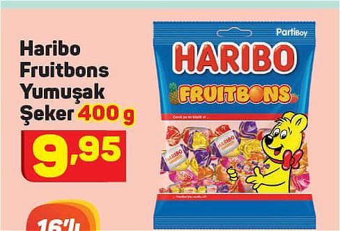 Haribo Fruitbons Yumuşak Şeker 400 g image