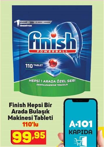 Finish Hepsi Bir Arada Bulaşık Makinesi Tableti 110'lu image