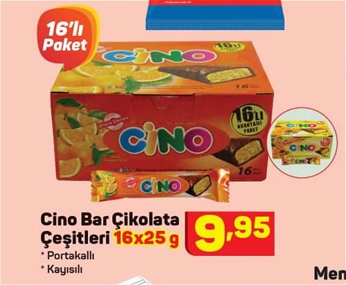 Cino Bar Çikolata Çeştleri 16x25 g image