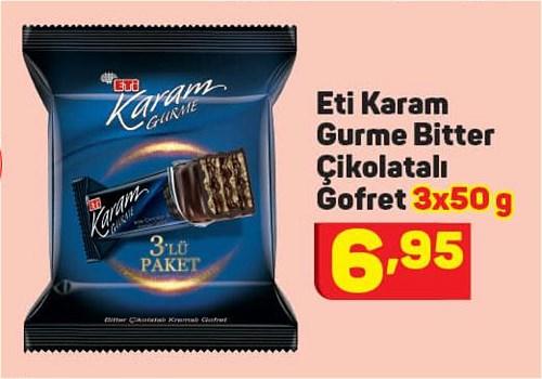 Eti Karam Gurme Bitter Çikolatalı Gofret 3x50 g image