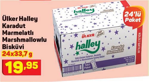 Ülker Halley Karadut Marmelatlı Marshmallowlu Bisküvi 24x33,7 g image