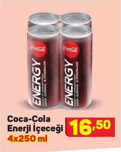 Coca-Cola Enerji İçeceği 4x250 ml image