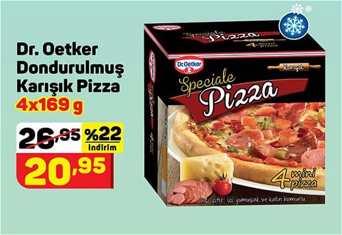 Dr. Oetker Dondurulmuş Karışık Pizza 4x169 g image