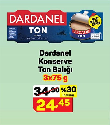 Dardanel Konserve Ton Balığı 3x75 g image
