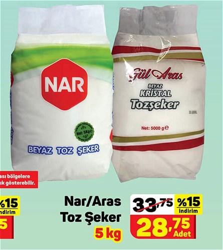 Nar/Aras Toz Şeker 5 kg image