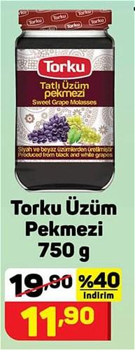 Torku Üzüm Pekmezi 750 g image