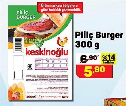 Piliç Burger 300 g image