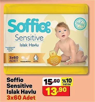 Soffio Sensitive Islak Havlu 3x60 Adet image