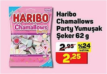 Haribo Chamallows Party Yumuşak Şeker 62 g image