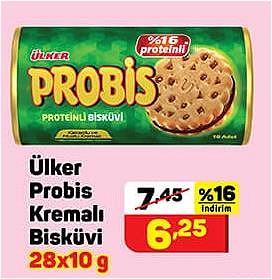 Ülker Probis Kremalı Bisküvi 28x10 g image