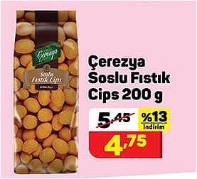 Çerezya Soslu Fıstık Cips 200 g image