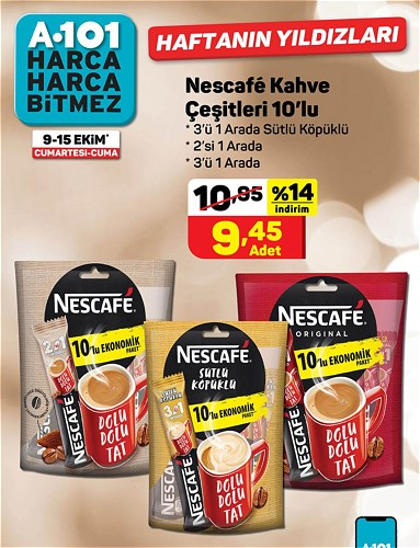 Nescafe Kahve Çeşitleri 10'lu image