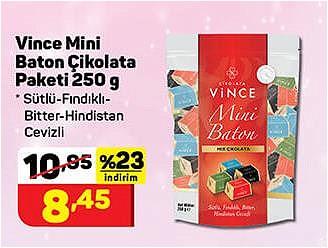 Vince Mini Baton Çikolata Paketi 250 g image