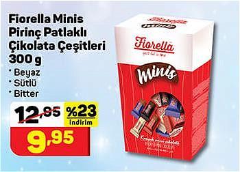 Fiorella Minis Pirinç Patlaklı Çikolata Çeşitleri 300 g image