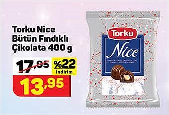 Torku Nice Bütün Fındıklı Çikolata 400 g image
