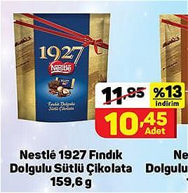 Nestle 1927 Fındık Dolgulu Sütlü Çikolata 159,6 g image
