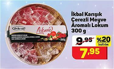 İkbal Karışık Çerezli Meyve Aromalı Lokum 300 g image