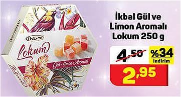 İkbal Gül ve Limon Aromalı Lokum 250 g image