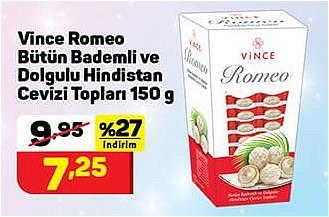 Vince Romeo Bütün Bademli ve Dolgulu Hindistan Cevizi Topları 150 g image