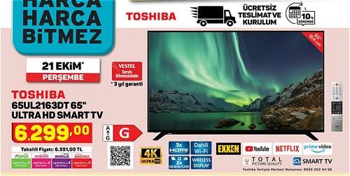 Toshiba 65UL2163DT Ultra HD Smart Tv image