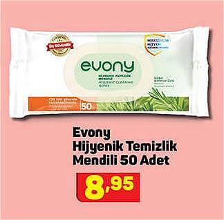 Evony Hijyenik Temizlik Mendili 50 Adet image